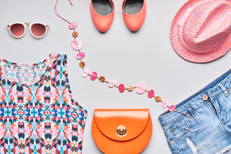 Clothes, bag, shoes, hat, glasses