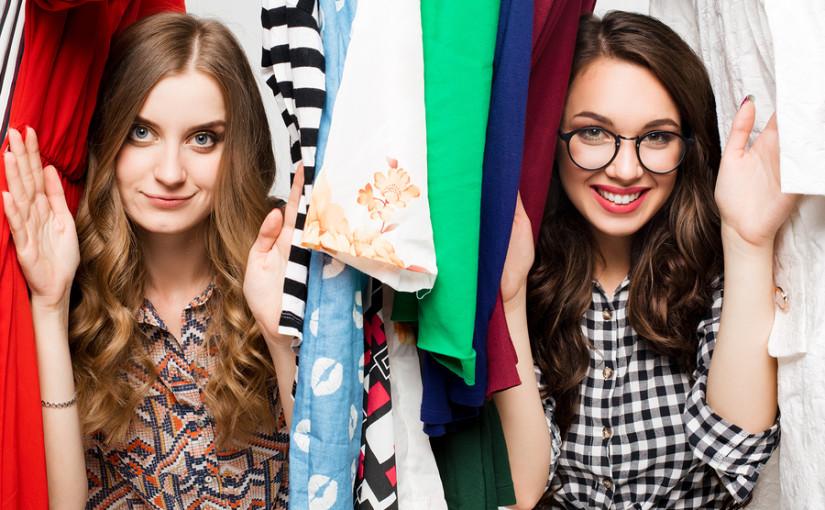 women in wardrobe