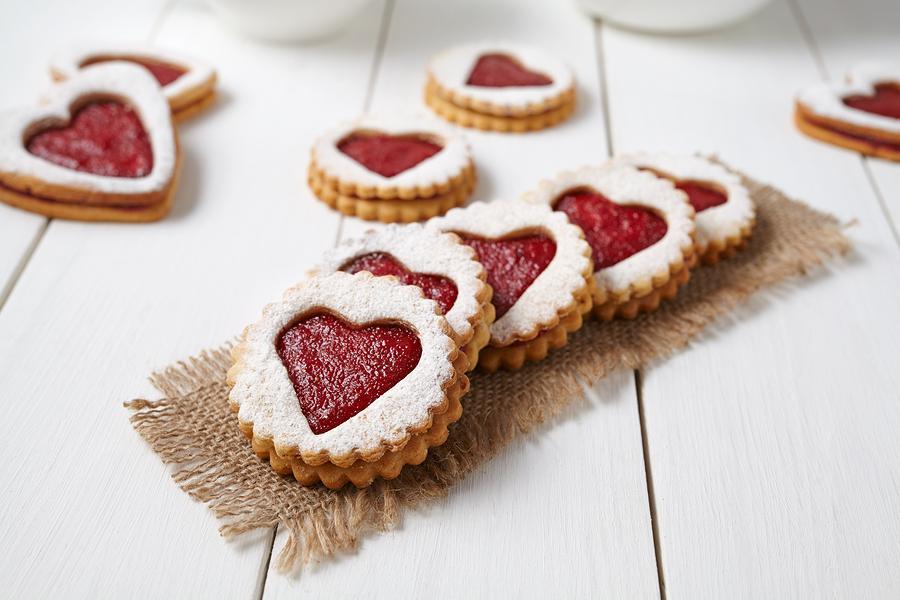 homemade love heart cookies