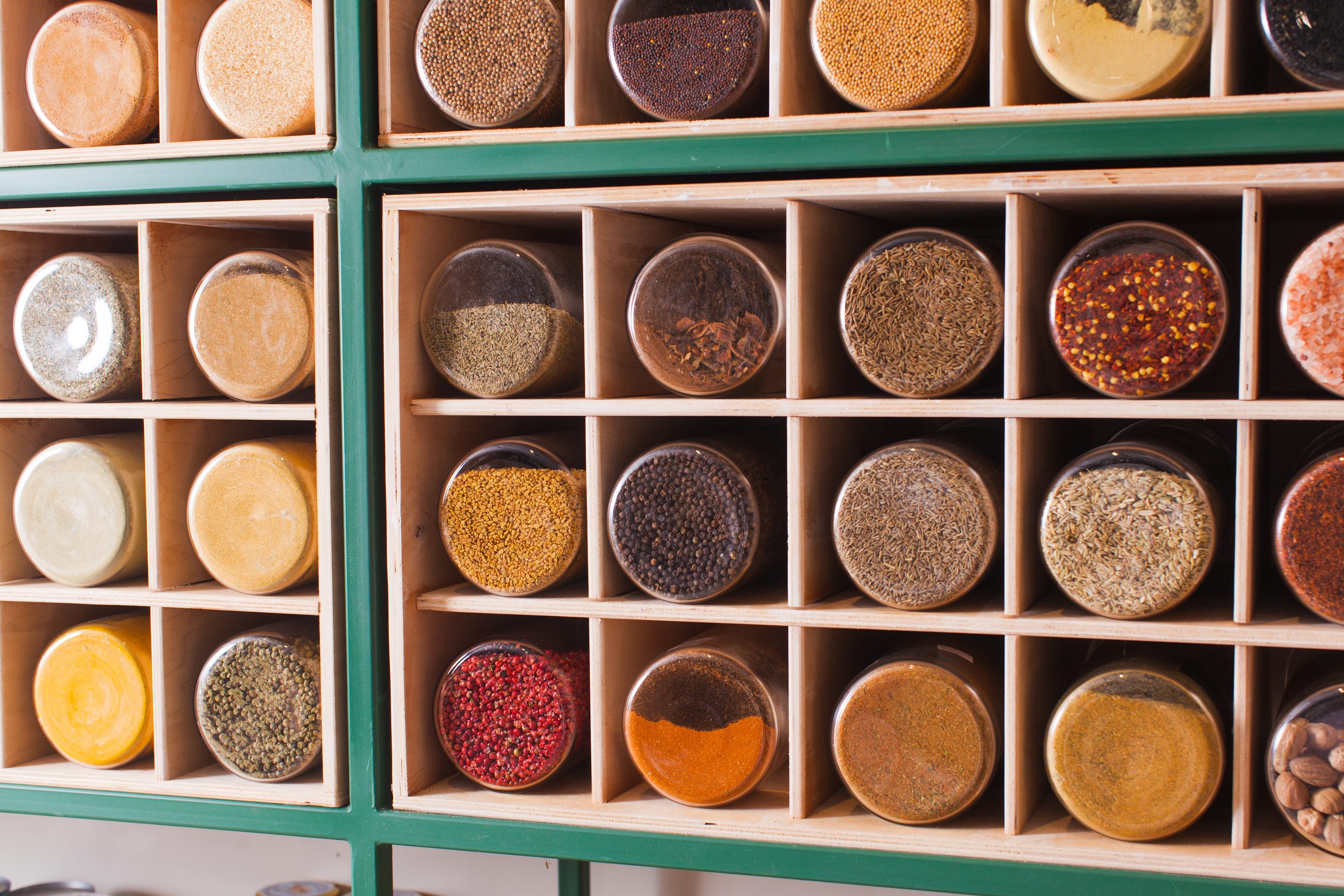 Spices at a bulk buy store