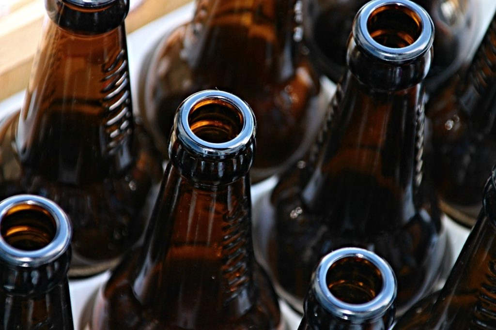 glass bottles for recycling